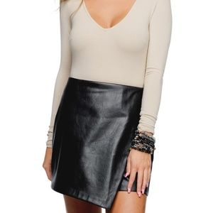 NWT - Buddy Love Madonna faux leather skirt -